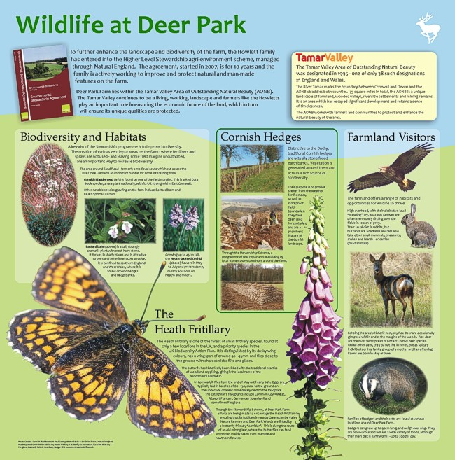 "Deer Park Farm interpretation panel - ""Wlidlife at Deer Park"""